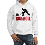 rock and roll smash e-guitar player Hoodie