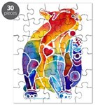 LOVE CAT Bright Colors Puzzle