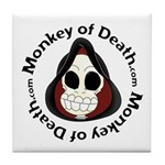 Monkey of Death Tile Coaster
