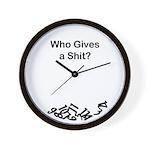 Who Gives a Shit Wall Clock