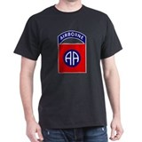 82nd Airborne Black T-Shirt