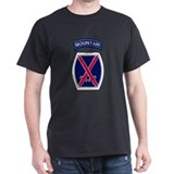10th Mountain Black T-Shirt