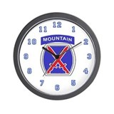 10 Mountain Division Wall Clock