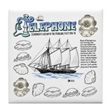 Telephone Schooner Tile Coaster