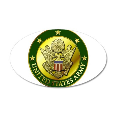 Army Green Logo 20x12 Oval Wall Decal