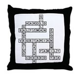 SALTZMAN SCRABBLE-STYLE Throw Pillow