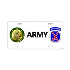 10th Mountain Aluminum License Plate