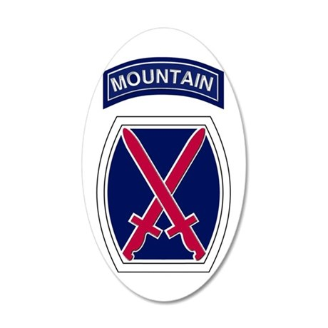 10Th Mountain 20X12 Oval Wall Decal