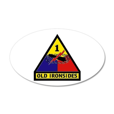 1st Armored Division 20x12 Oval Wall Decal