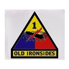 1st Armored Division Throw Blanket