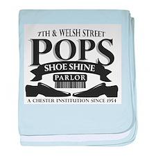 Pops Shoe Shine Parlor baby blanket