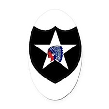 2nd Infantry Division Oval Car Magnet