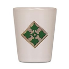 Fourth Infantry Div. Shot Glass