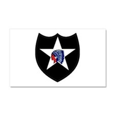 2nd Infantry Division Car Magnet 20 x 12