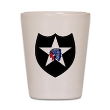 2nd Infantry Division Shot Glass