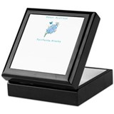 Fairbanks Sweet Adelines blue logo Keepsake Box