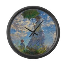 Monet - Parasol Large Wall Clock