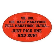 5k 10k 15k Half Full Marathon Ultra Decal