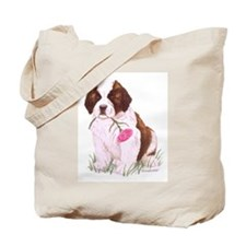 Saint Bernard Puppy Tote Bag