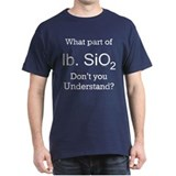 lb. Si02 (Pound Sand) Black T-Shirt