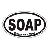 Snakes on a Plane SOAP Euro Oval Decal