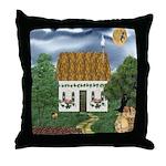 Storm Cottage Version 2 Throw Pillow