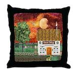 Sunset Cottage Throw Pillow
