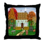 Autumn Cottage Throw Pillow