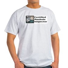 Certified Manhole Inspector Ash Grey T-Shirt