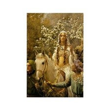 Guinevere Maying by Collier Rectangle Magnet