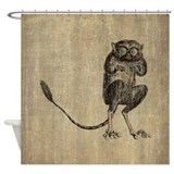 Vintage Lemur Shower Curtain