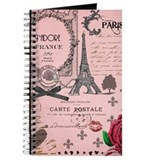 Vintage Pink Paris Collage Journal