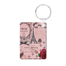 Vintage Pink Paris Collage Keychains