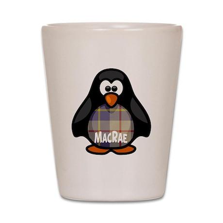 MacRae Tartan Penguin Shot Glass