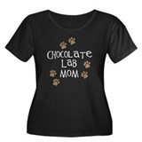 chocolate lab mom wh.png Women's Plus Size Scoop N