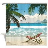 Day at the Beach Shower Curtain