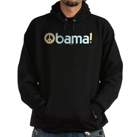 Obama for Peace Black Hoodie