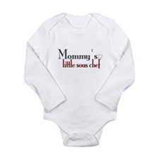 Cute Sous chef Long Sleeve Infant Bodysuit