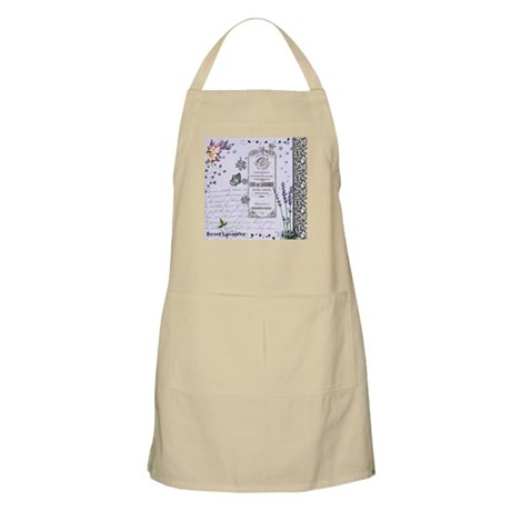 Girly Purple Vintage Collage Apron