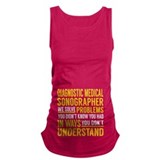 Get to da Choppa.png Racerback Tank Top