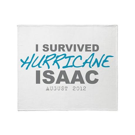 I Survived Hurricane Isaac Throw Blanket