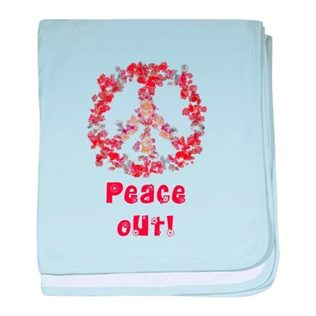 Attraction PeaceOut V baby blanket