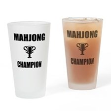mahjong champ Drinking Glass