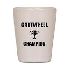 cartwheel champ Shot Glass