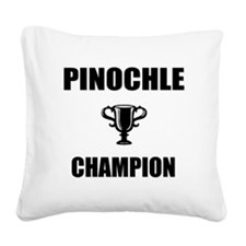 pinochle champ Square Canvas Pillow