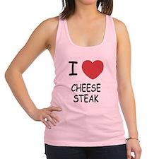 I heart cheesesteak Racerback Tank Top