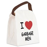 I heart garbage men Canvas Lunch Bag