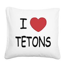 TETONS.png Square Canvas Pillow