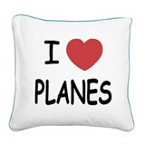 PLANES.png Square Canvas Pillow