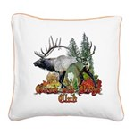 bull elk buck boys club.png Square Canvas Pillow